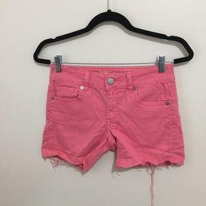 AMERICAN EAGLE stretch cutoff jean shorts A4
